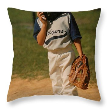 The Only Girl On The Team.. Throw Pillow