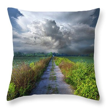 The Only Way In Throw Pillow by Phil Koch
