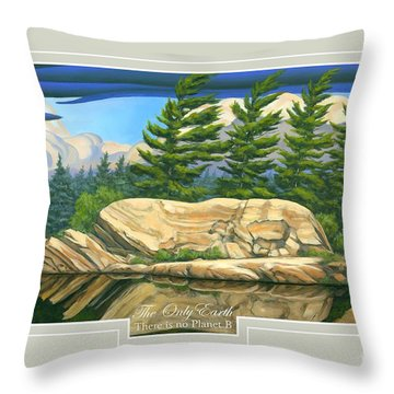 Throw Pillow featuring the painting The Only World by Michael Swanson