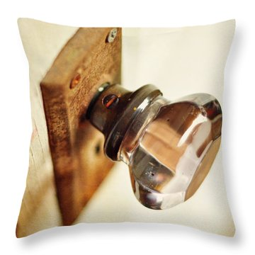 The Open Door Throw Pillow by Rebecca Sherman