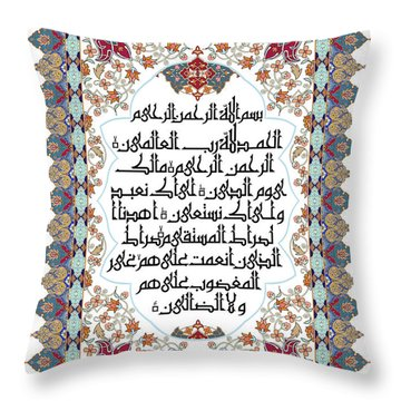 Throw Pillow featuring the painting The Opening 610 4 by Mawra Tahreem
