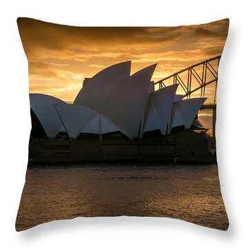 The Opera House Throw Pillow by Andrew Matwijec