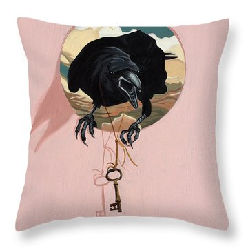 The Oracle Throw Pillow by Nathan Rhoads