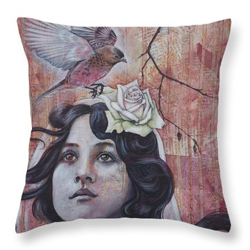 The Oracle Throw Pillow by Sheri Howe