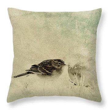 The Orange And Sparrow Throw Pillow