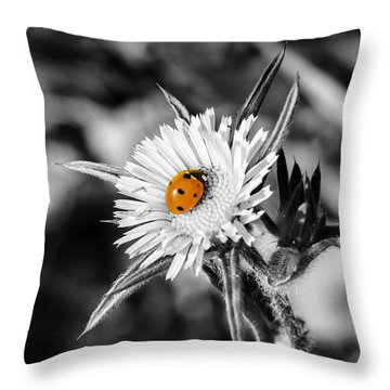 The Orange Spot Throw Pillow by Arik Baltinester