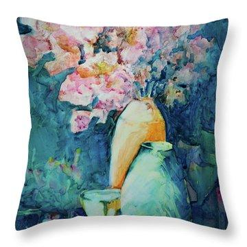 The Orange Vase Throw Pillow