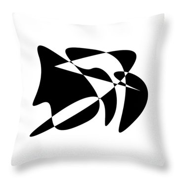 The Orator Throw Pillow by David Bridburg
