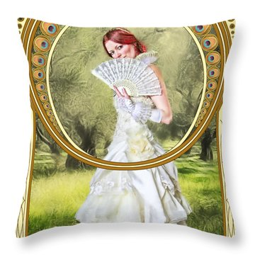 The Orchard Throw Pillow by John Edwards