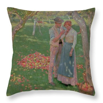 The Orchard Throw Pillow by Nelly Erichsen