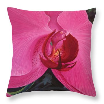 The Orchid In San Juan Throw Pillow
