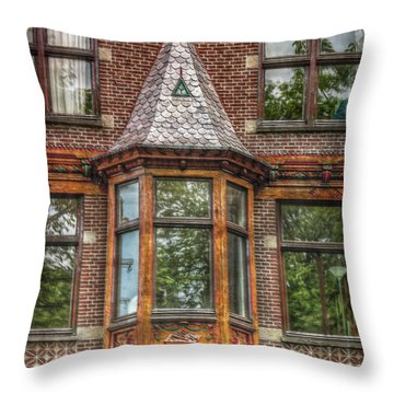 Throw Pillow featuring the photograph The Oriel by Hanny Heim