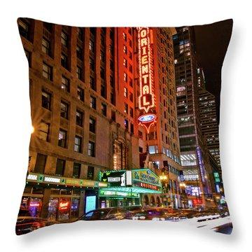 The Oriental Theater Chicago Throw Pillow