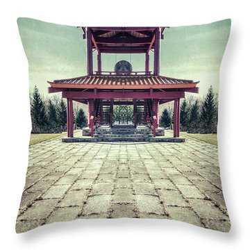 The Oriental Touch Throw Pillow