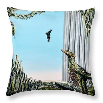 Throw Pillow featuring the painting The Origin Of Species -a Recurring Pattern- by Ryan Demaree