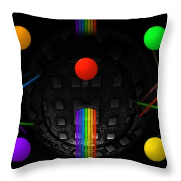 The Origin Of Species Throw Pillow by Charles Stuart