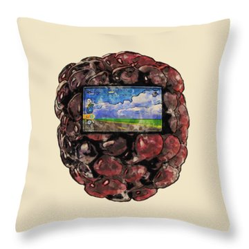 The Blackberry Concept Throw Pillow