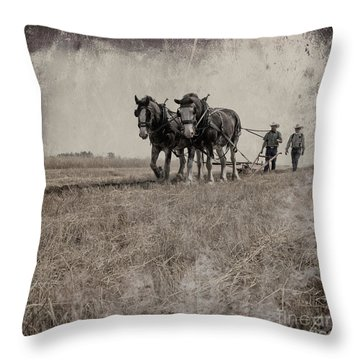 The Original Horsepower Throw Pillow