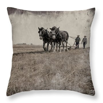 The Original Horsepower Throw Pillow