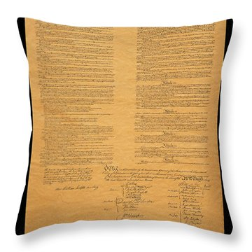 The Original United States Constitution Throw Pillow