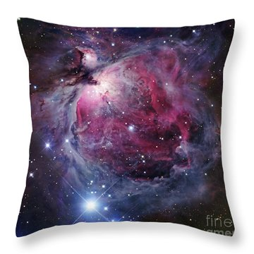 Throw Pillow featuring the photograph The Orion Nebula by Robert Gendler