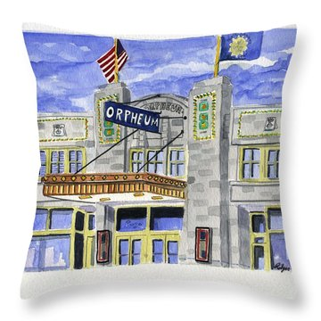 The Orpheum Throw Pillow