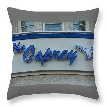 The Osprey Marqee Throw Pillow by Melinda Saminski