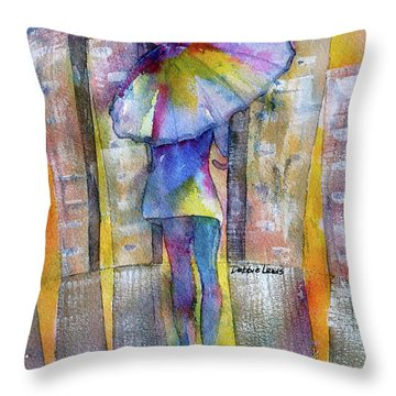 The Other Girl In The City Throw Pillow