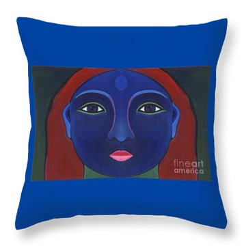 The Other Side - Full Face 1 Throw Pillow