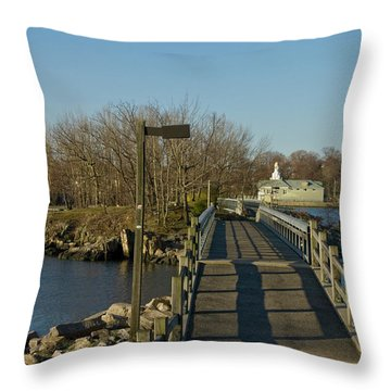Throw Pillow featuring the photograph The Other Side by Jose Rojas