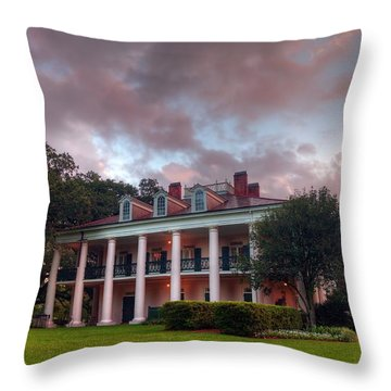 The Other Side Of Oak Alley Throw Pillow