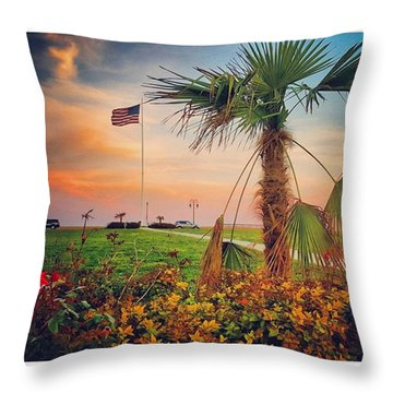 The Other Side Of Sunset Throw Pillow