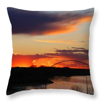 The Other Side Of The Bridge  Throw Pillow