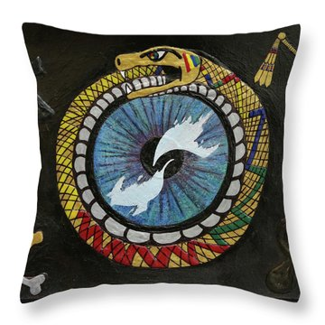 The Ouroboros Throw Pillow
