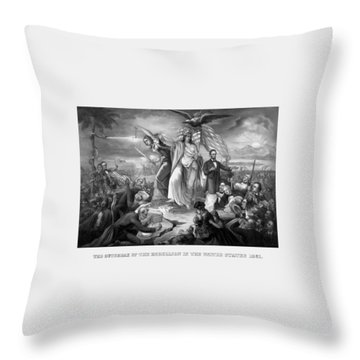 The Outbreak Of The Rebellion In The United States Throw Pillow by War Is Hell Store
