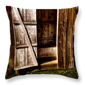 The Outhouse At Fort Nisqually Throw Pillow by David Patterson