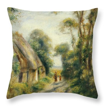 The Outskirts Of Berneval  Throw Pillow by Pierre Auguste Renoir