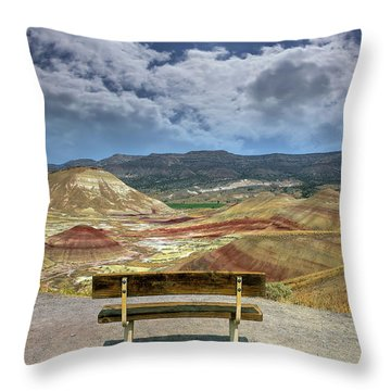 The Overlook At Painted Hills In Oregon Throw Pillow