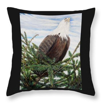 The Oversee'er Throw Pillow by Marilyn  McNish