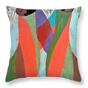 The Overseers Throw Pillow by Clarissa Burton