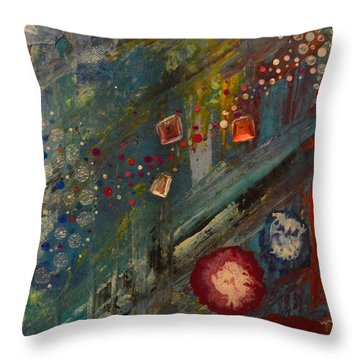 The Owl  The Fox And The Poppies Throw Pillow