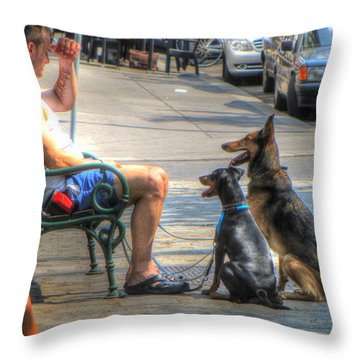 The Owner Let Me Eat Throw Pillow