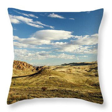 The Owyhee Desert Idaho Journey Landscape Photography By Kaylyn Franks  Throw Pillow