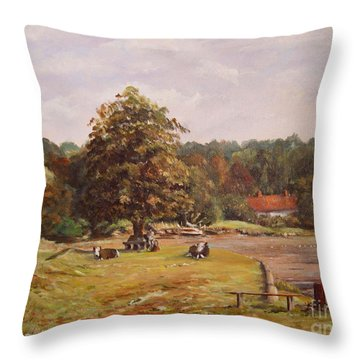 The Pack Lunch Throw Pillow