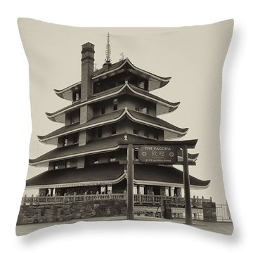 The Pagoda - Reading Pa. Throw Pillow by Bill Cannon