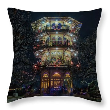 The Pagoda At Christmas Throw Pillow
