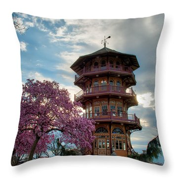 The Pagoda In Spring Throw Pillow