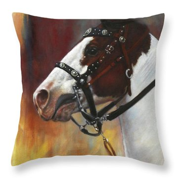 Throw Pillow featuring the painting The Paint by Harvie Brown
