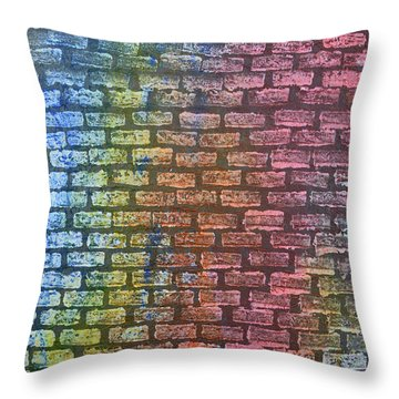 The Painted Brick Wall  Throw Pillow