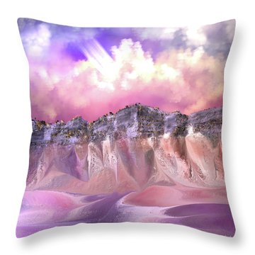 The Painted Sand Rocks Throw Pillow